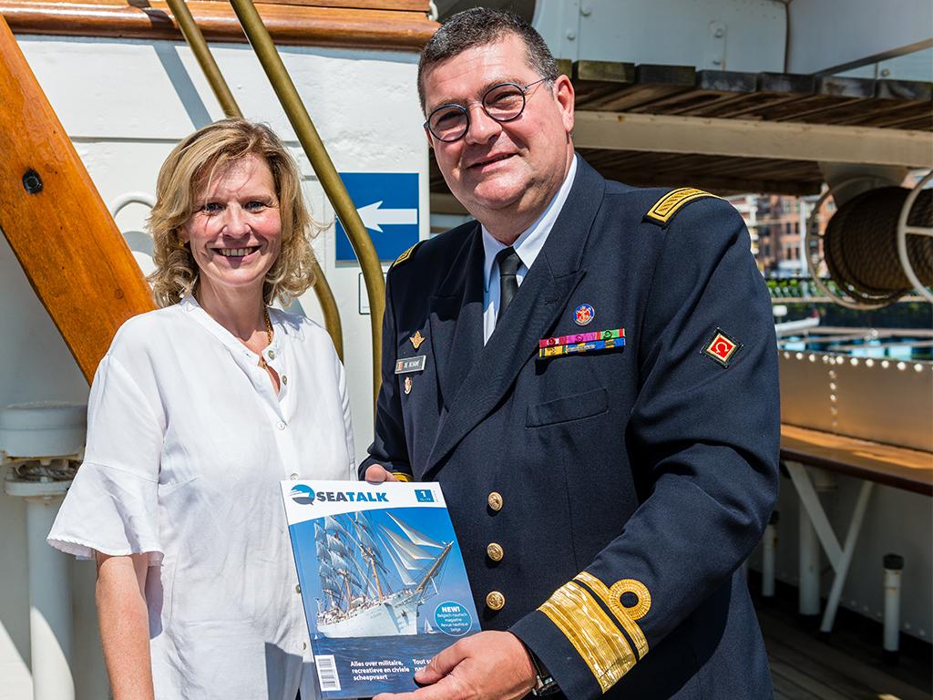 Admiraal Jan De Beurme en uitgever Caroline Ostyn